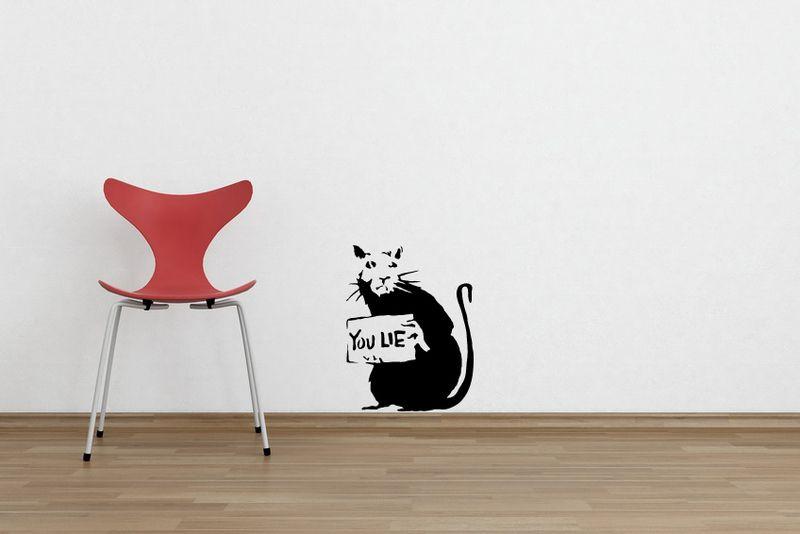 Banksy wandtattoo prinsenvanderaa - Wandtattoo banksy ...