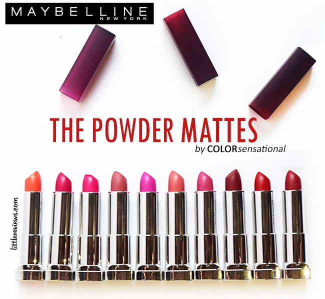 ALL 10 SHADES OF MAYBELLINE COLOR SENSATIONAL POWDER MATTE LIPSTICKS REVIEW AND SWATCHES