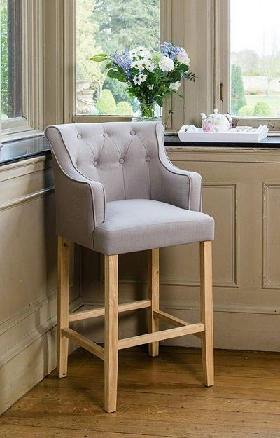 R V Astley Gala High Stool In Grey Linen Mix Bar Stools With Backs Kitchen Stools Kitchen Bar Stools
