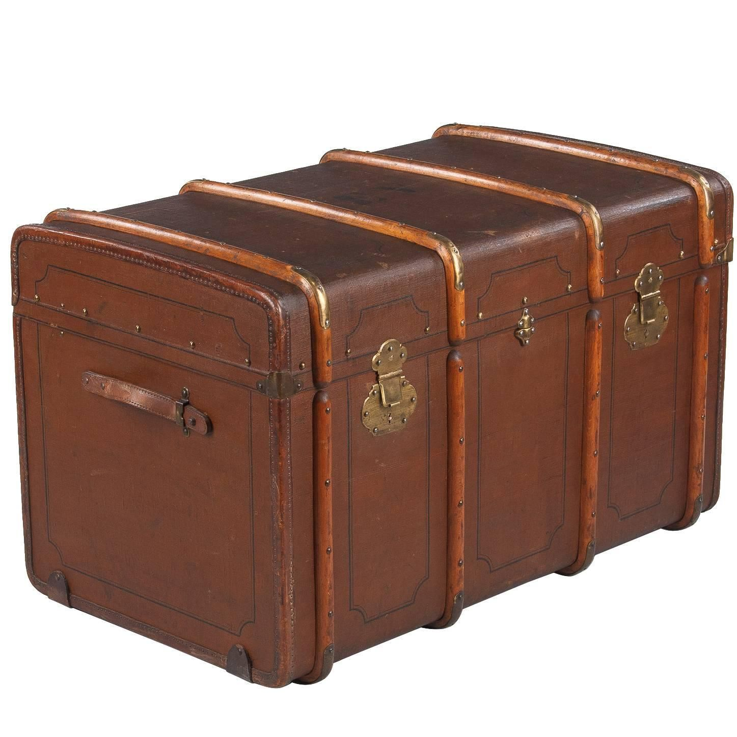 French Traveling Steamer Trunk, Early 1900s