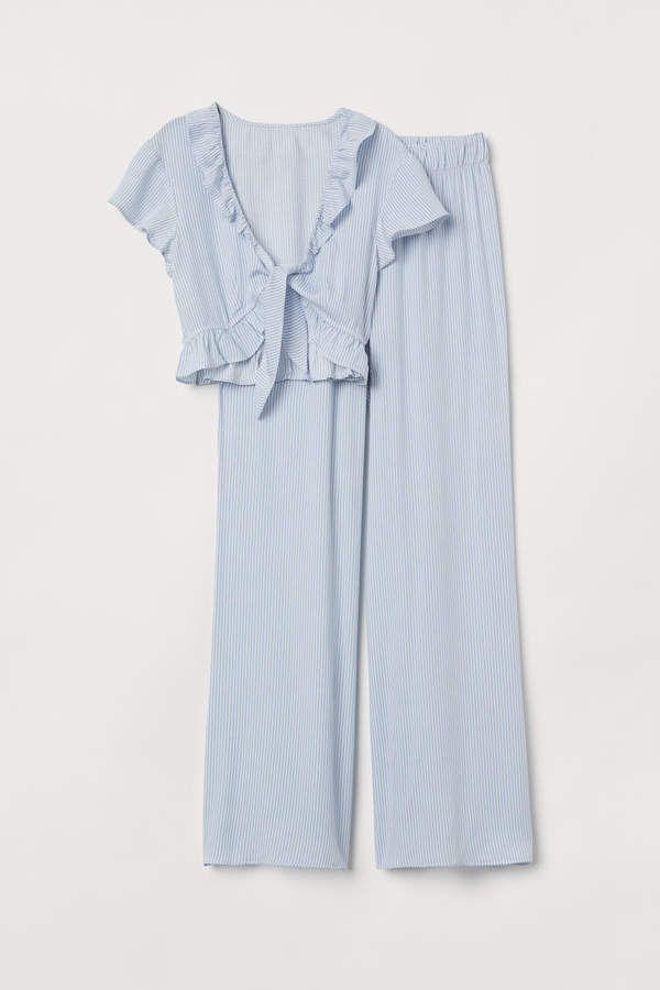 Photo of Pyjamas – Lyseblå / hvide striber – Kvinder | H & M USA