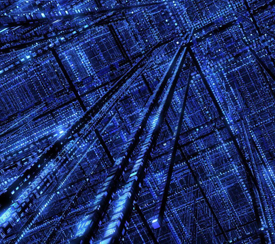 Blue Matrix Wallpaper