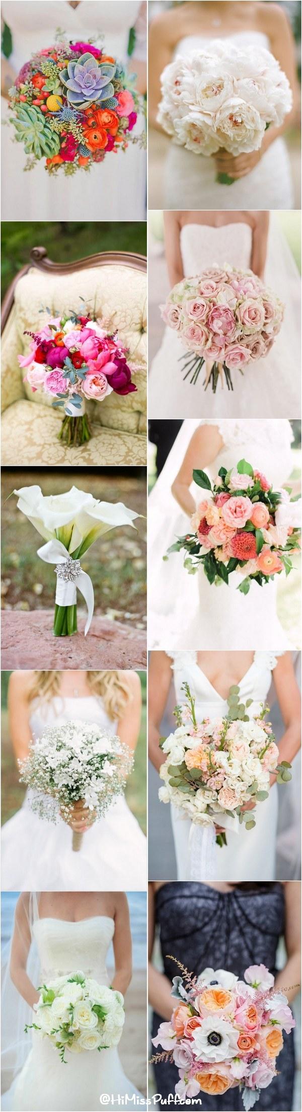 100 Romantic Spring & Summer Wedding Bouquets / http://www.himisspuff.com/spring-summer-wedding-bouquets/
