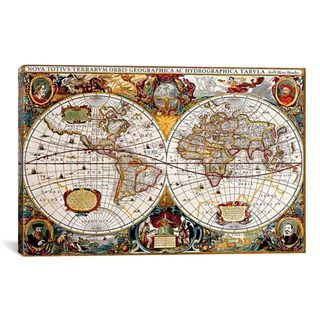 Shop for icanvas antique double hemisphere map of the world antique world map 5000 piece jigsaw puzzle from jigsaw puzzles direct order today and get free delivery gumiabroncs Gallery