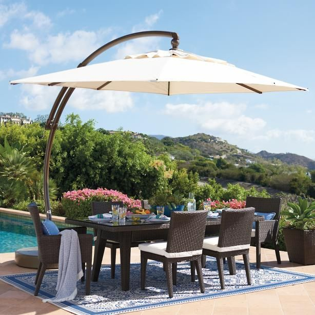 9 X 12 Oval European Side Mount Umbrella Patio Patio Umbrellas Pergola Patio
