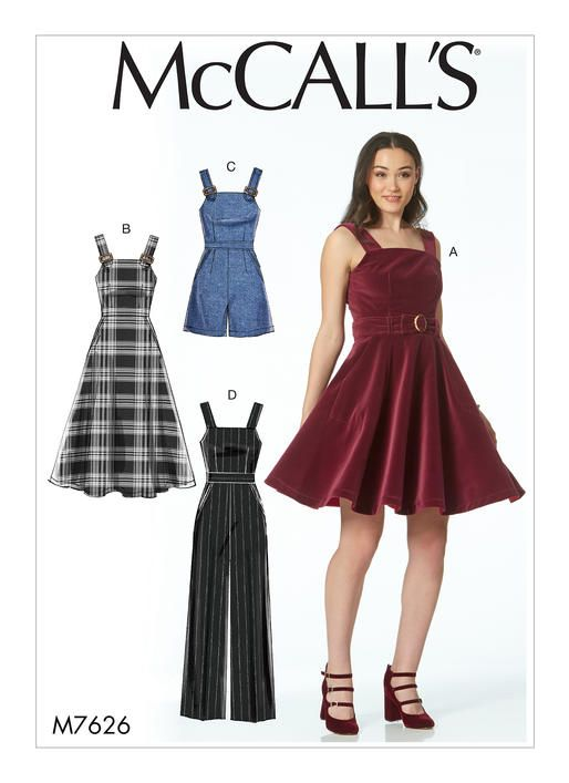 McCalls Misses\' Dresses, Romper, and Jumpsuit 7626 | Patterns I Own ...