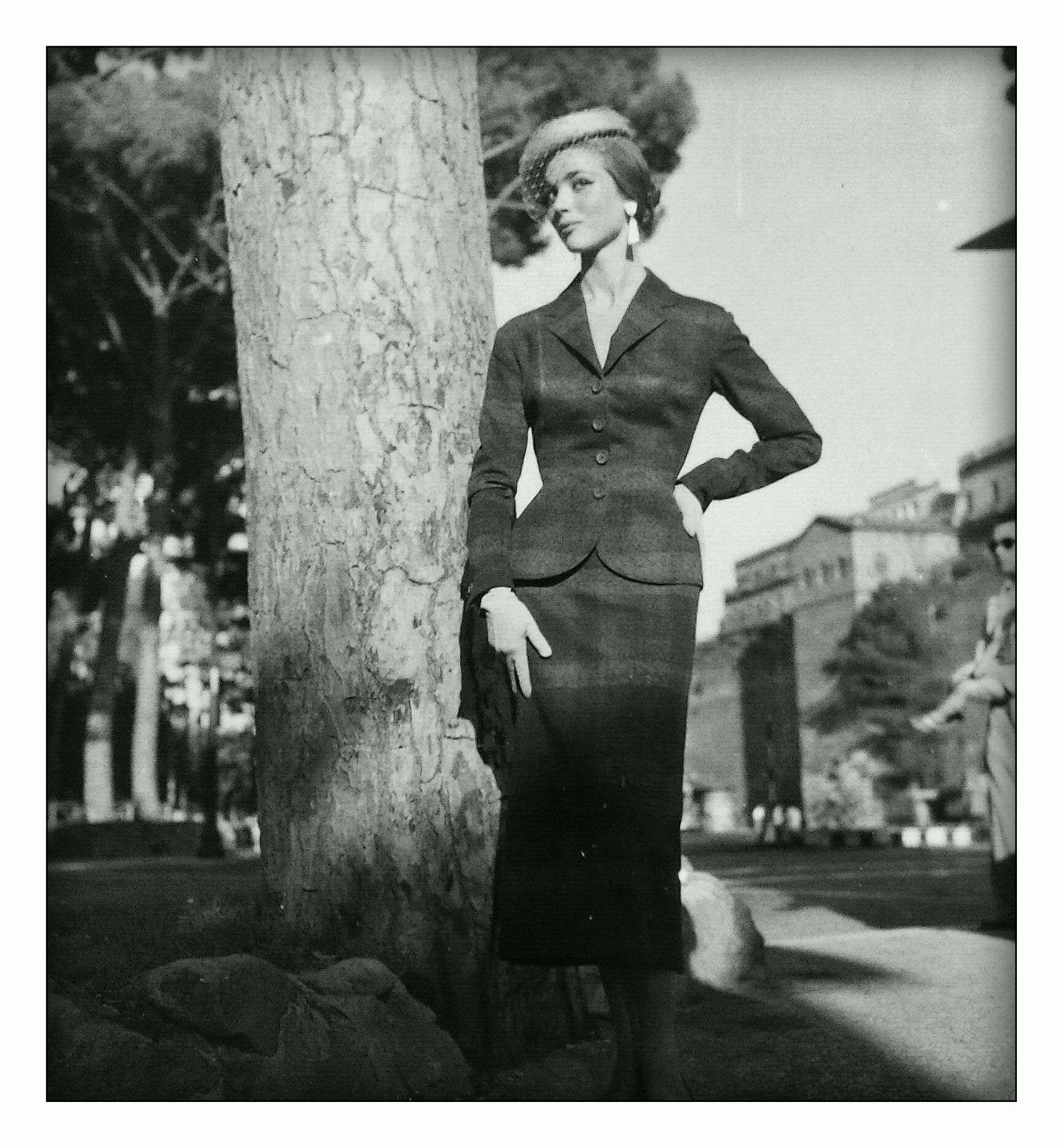 Ferdinandi Haute Couture - model: Elsa Martinelli - Rome 1950 - photograph by: Federico Garolla