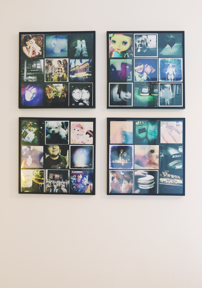 instagram collage for dirt cheap: record frame, pictures printed as ...