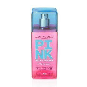 Victorias Secret Pink with a Splash - Fresh  Clean - All Over Body Mist 84 Oz by Victorias Secret