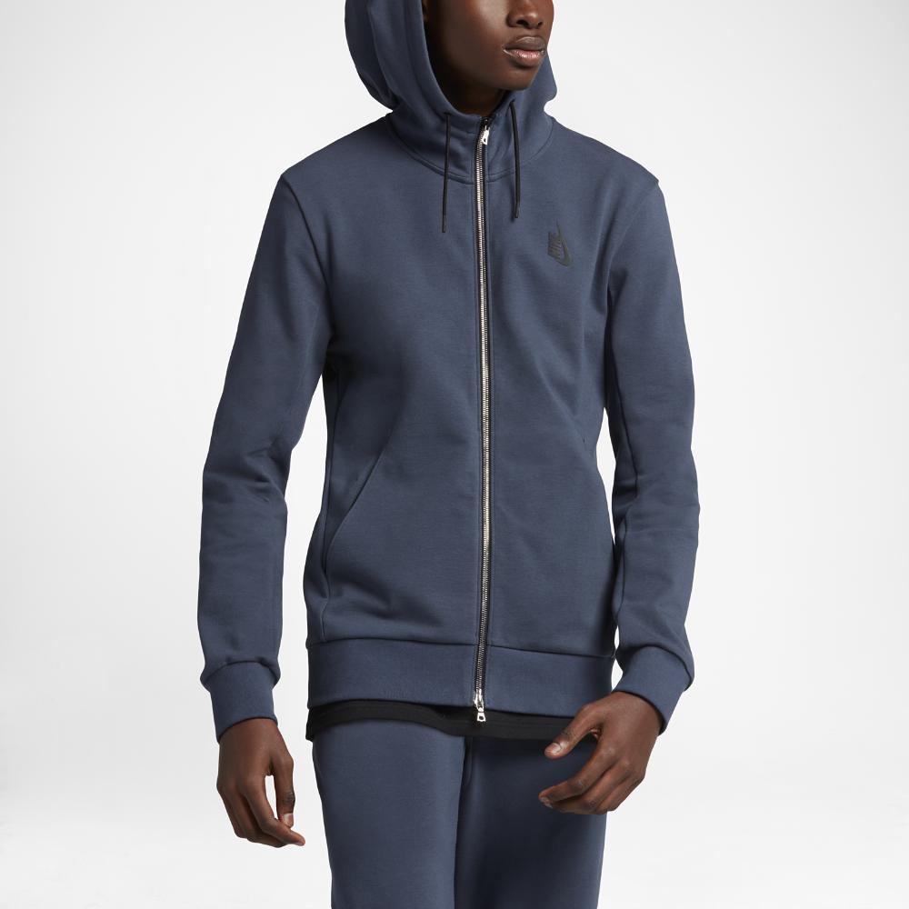 d3c3cbf86 NikeLab Essentials Fleece Men s Full-Zip Hoodie Size Medium (Blue ...