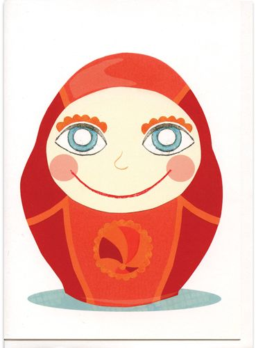 Fuzz IllustrationThe Daruma Doll is a traditional Japanese talisman of good luck.  Here he is in card form to send to anyone, even yourself to help with goals small or large.