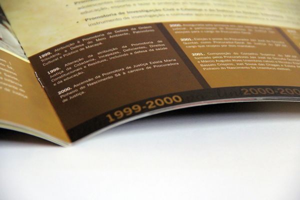 Comemorative Booklet Amapá Public Ministry 20 years by Flávia Mayer, via Behance