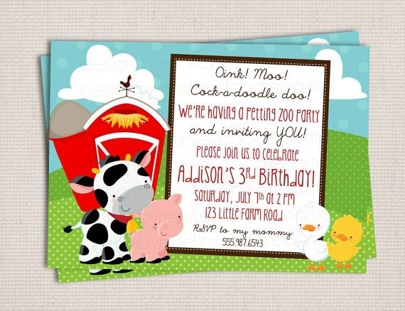 Petting Zoo Birthday Party Invitations To Help Your Charming Party