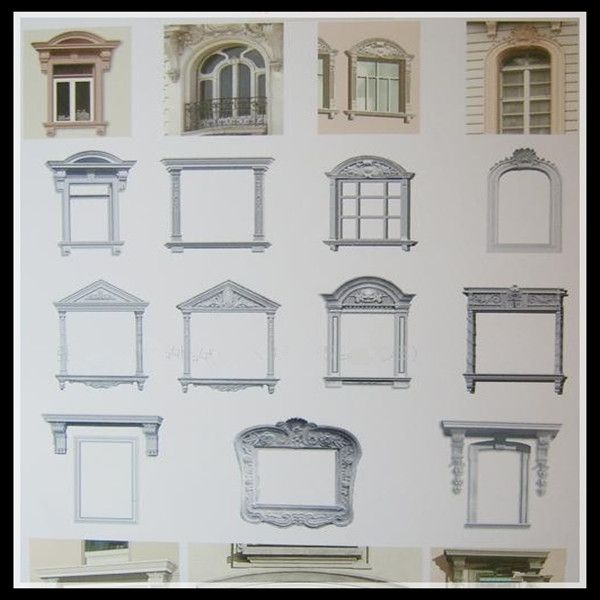 GRC Window Frame Window Surround Decoration Moulding Window Simple Grc Decoration Design