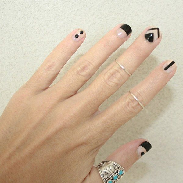 50 Of The Best Graphic Nail Art Ideas Nails Pinterest Nail