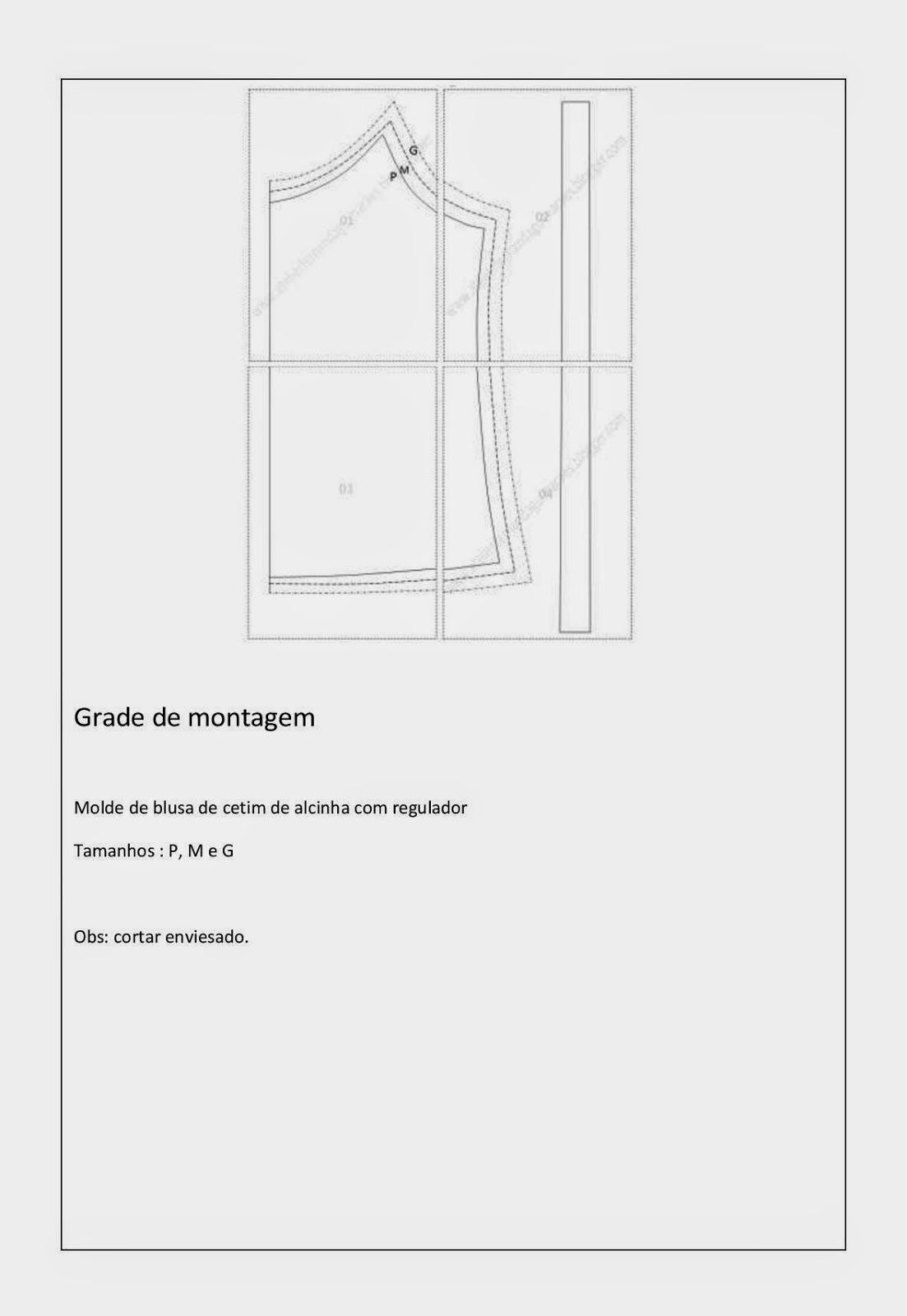 Blog Atelier Fernanda Guimaraes: Molde de blusa de cetim com alça fininha