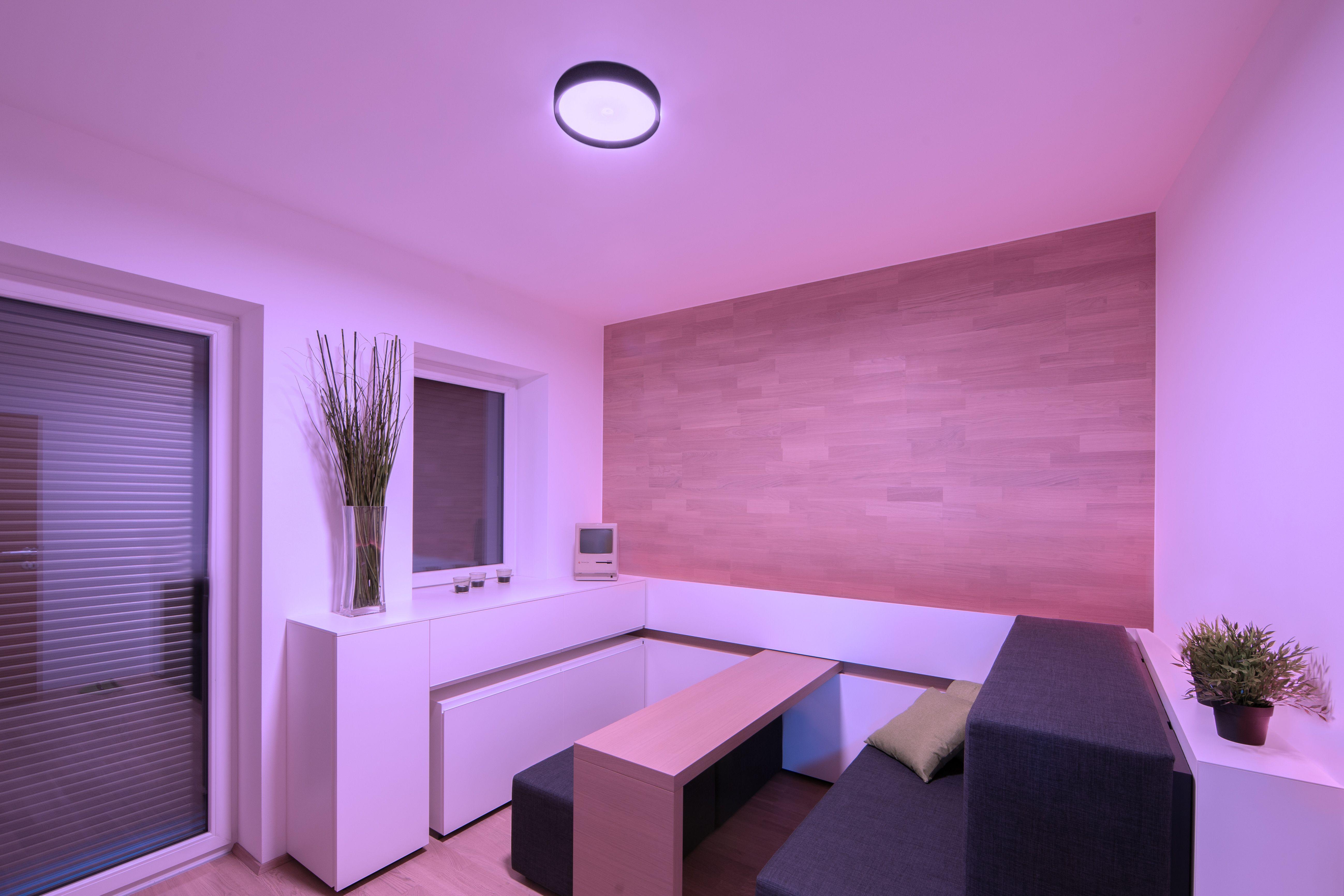LED Ceiling Light RGBW Domotica, Sensores