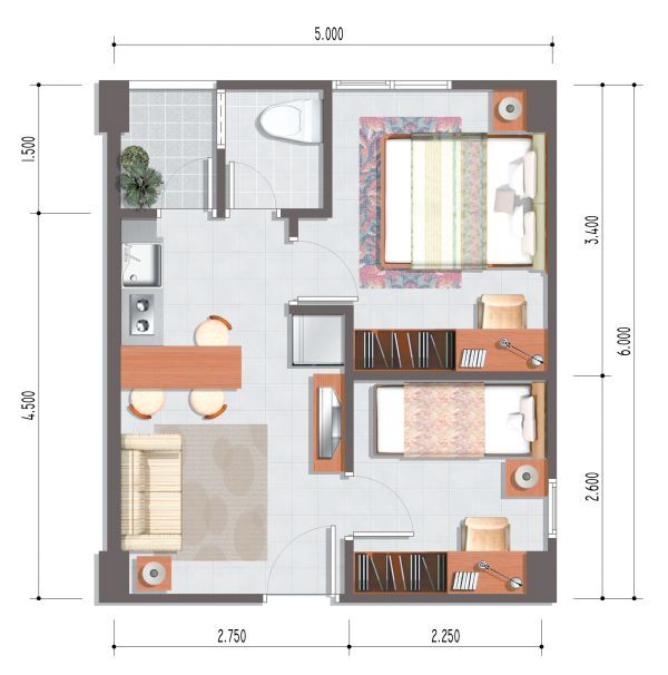 Plans for luxury studio apartment decorating ideas Miniature room boxes interior design