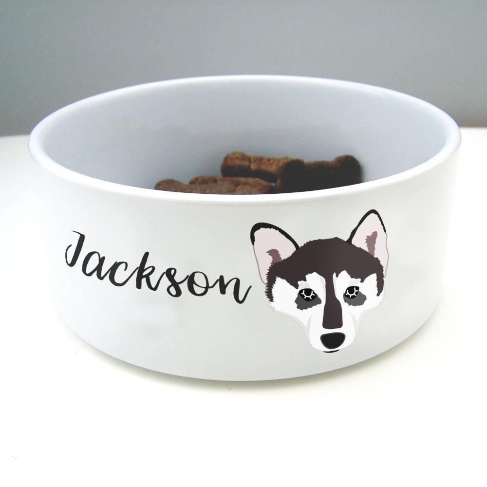 Alaskan Malamute Personalised Ceramic Dog Bowl Dog Bowls Ceramic Dog Bowl Alaskan Malamute