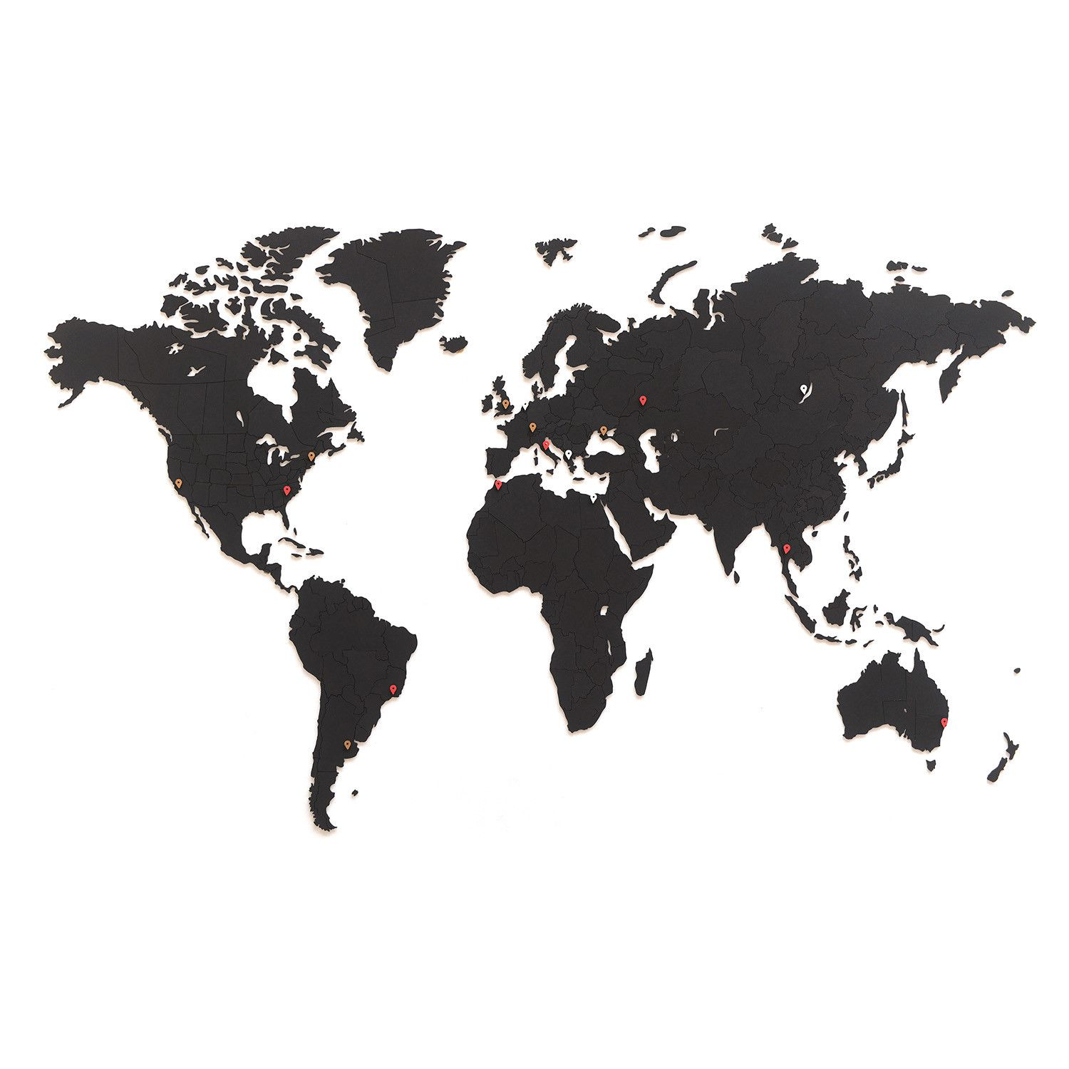 World Map Clip Art Black And White.World Map Svg Clipart Silhouette World Map Vector Digital Download