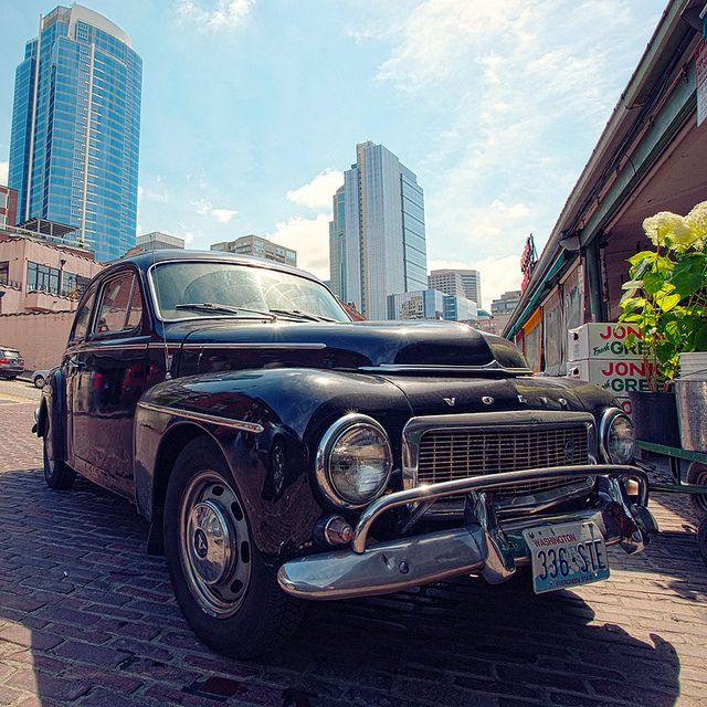 Vintage Volvo Seattle S Public Market Volvo Seattle Downtown Seattle