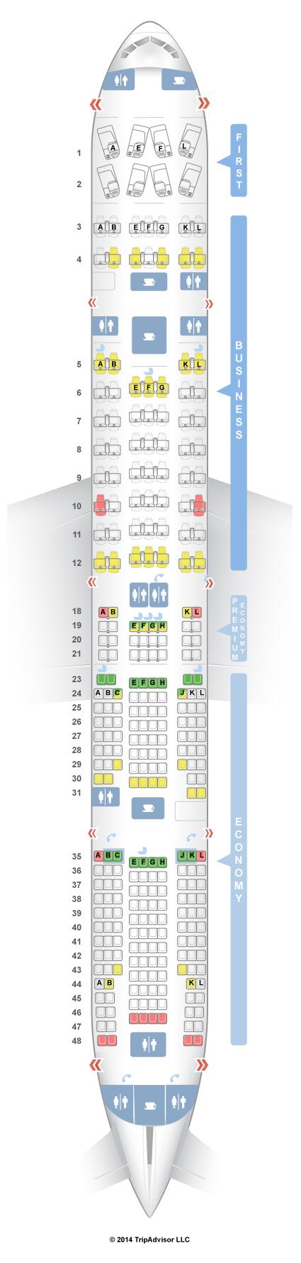 Seatguru Seat Map Air France Boeing 777 300er 77w Four Class