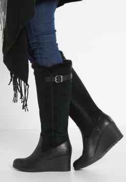 bottes style ugg compensées