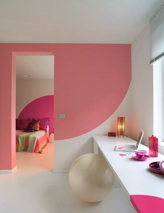 Pink And White Color Combination On Bathroom Wall Decor Decor