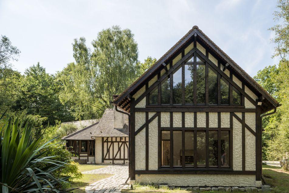 Un pignon vitr projets essayer en 2019 colombage maison et maison traditionnelle - Extension maison normande ...