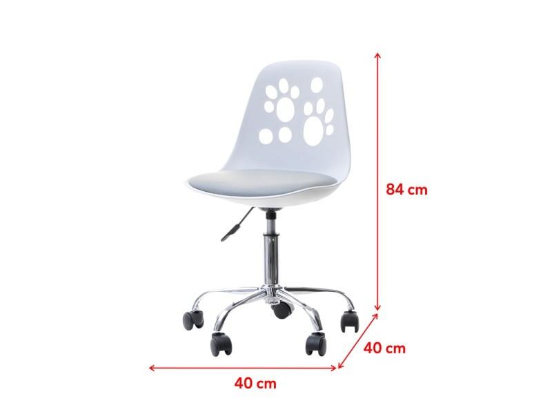 Chaise De Bureau Enfant Foot 40 Cm Blanc Gris Reglable Vente De Fauteuil De Bureau Conforama En 2020 Chaise Bureau Enfant Chaise Bureau Fauteuil Bureau