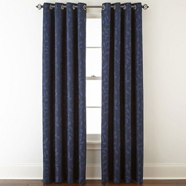 Jcpenney Home Quinn Leaf Grommet Top Curtain Panel