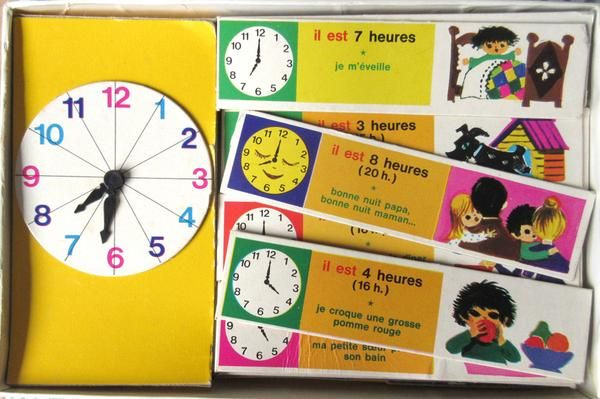 Learning to read French AND the clock 'j'apprends l'heure'  via @katefarleyprint