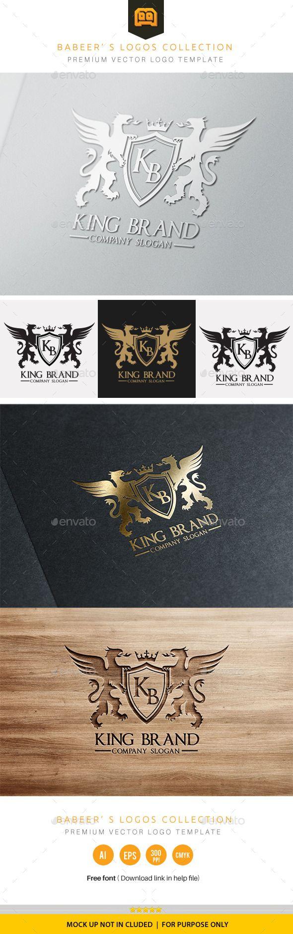king brand  custom logo design visiting card design