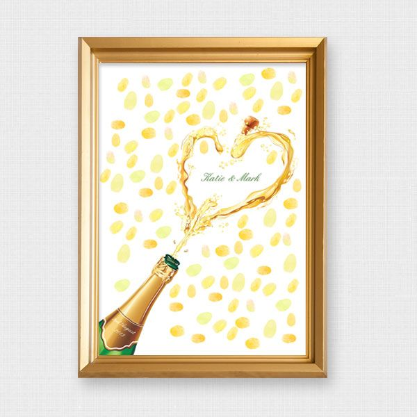 I do it yourself champagne fingerprint guest book parties and i do it yourself champagne fingerprint guest book solutioingenieria Images