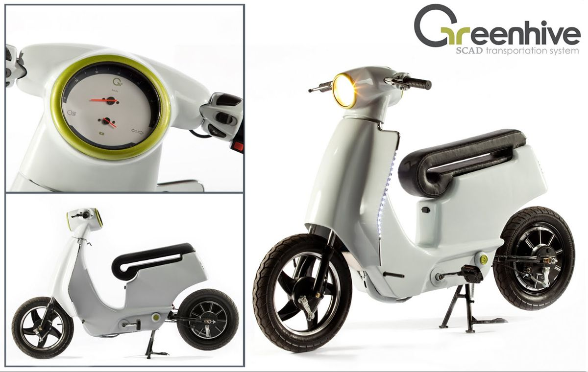 Electric scooters for scad transportation classs on behance