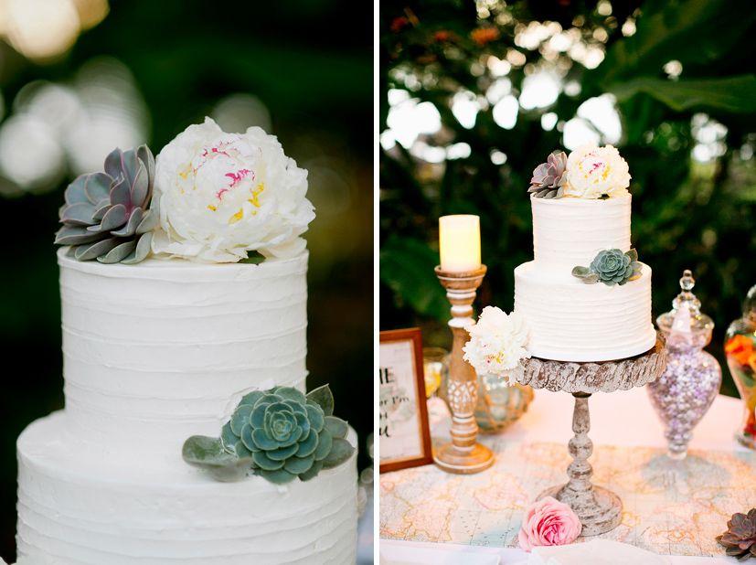 Hawaii Wedding Cake Vintage And Lace Big Island Wedding Tropical