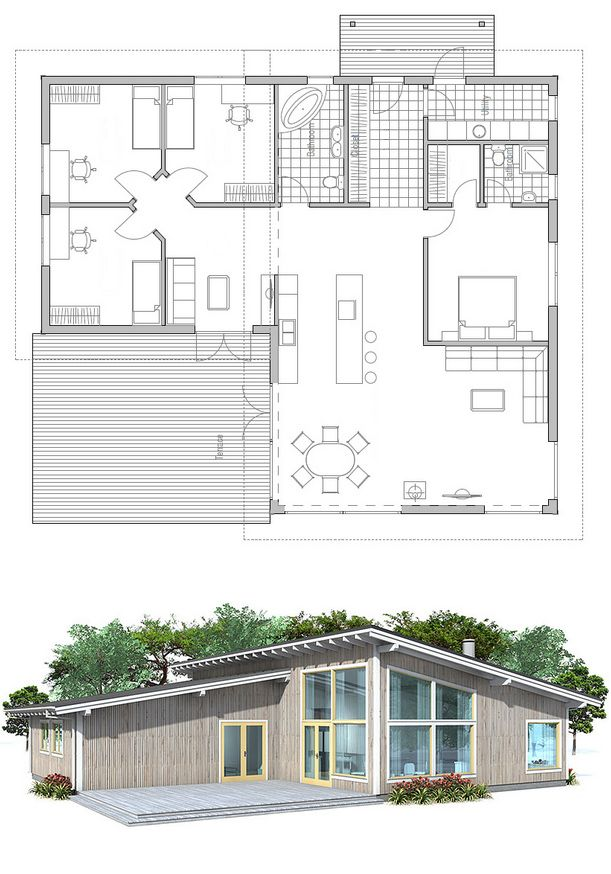 plan de maison HousePlans Pinterest Plans de maison, Plans et - Construire Sa Maison Plan