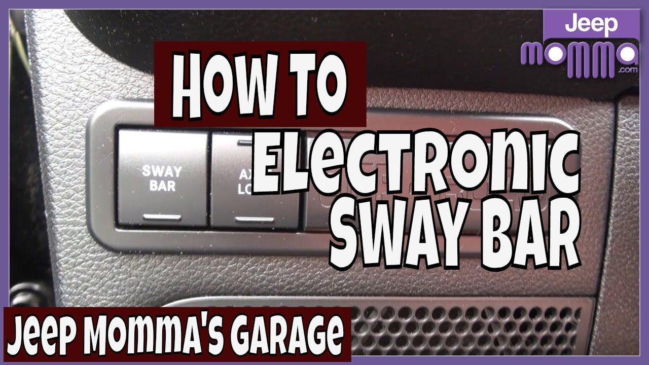 How To Use The Sway Bar Button On Your Jeep Wrangler Rubicon Jeep Wrangler Rubicon Jeep Wrangler Jeep