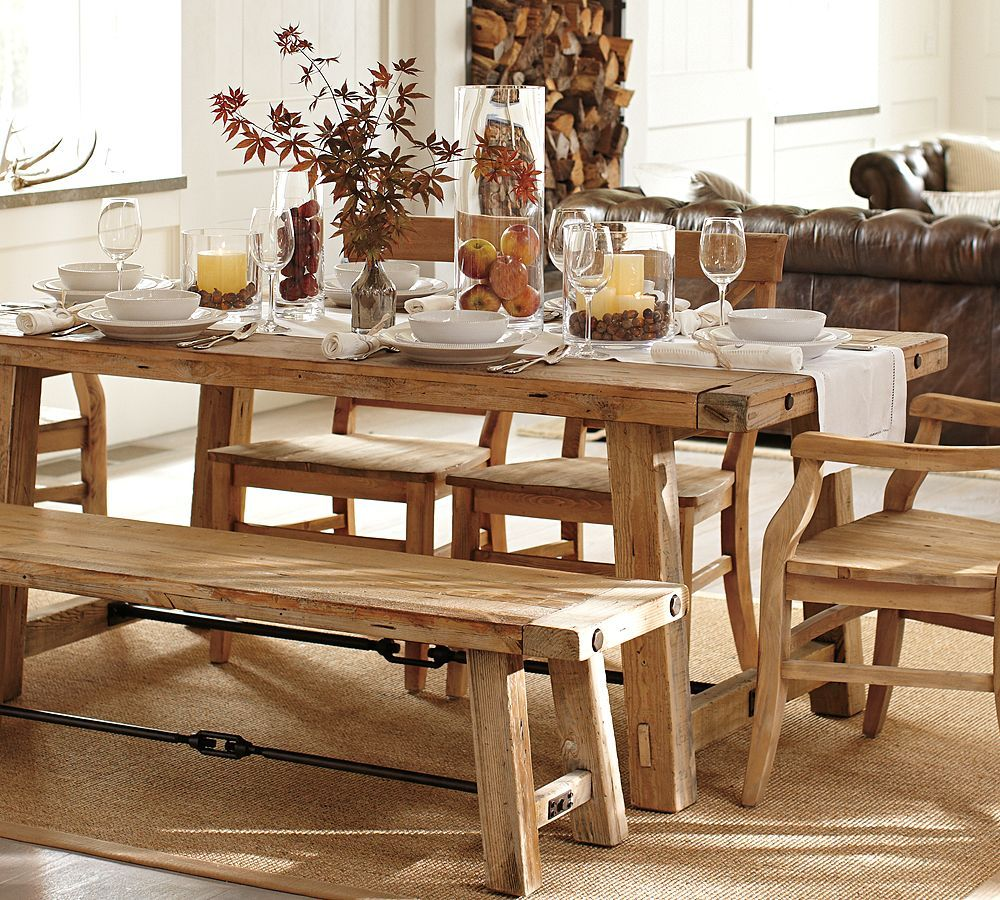 Pottery Barn Benchwright Reclaimed Wood Dining Table  For The Brilliant Pottery Barn Dining Room Tables Decorating Inspiration