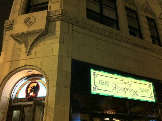 Lady Gregory's on Clark in Chicago's Andersonville neighborhood.  Food and literature!  Eat the chicken pot pie.