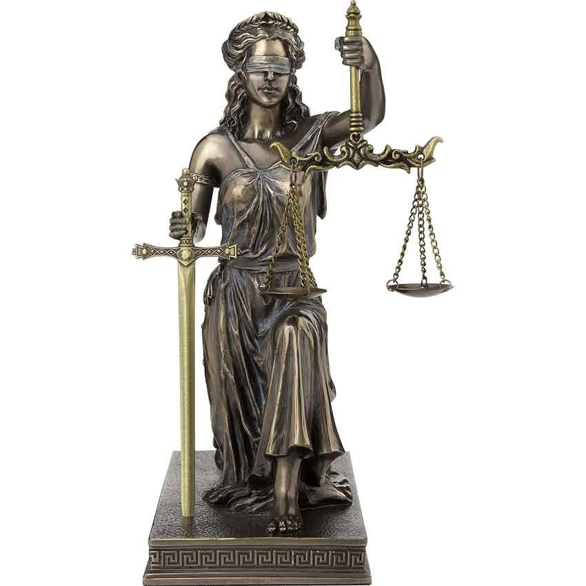 Lady Justice Kneeling Statue With Letter Opener Lady Justice Statue Skull Statue