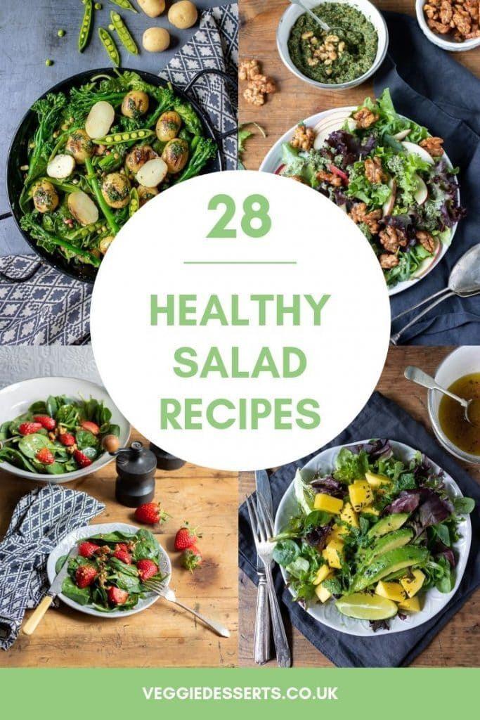 28 Tasty Healthy Salad Recipes Vegetarian Recipes Easy Vegetarian Salad Recipes Salad Recipes