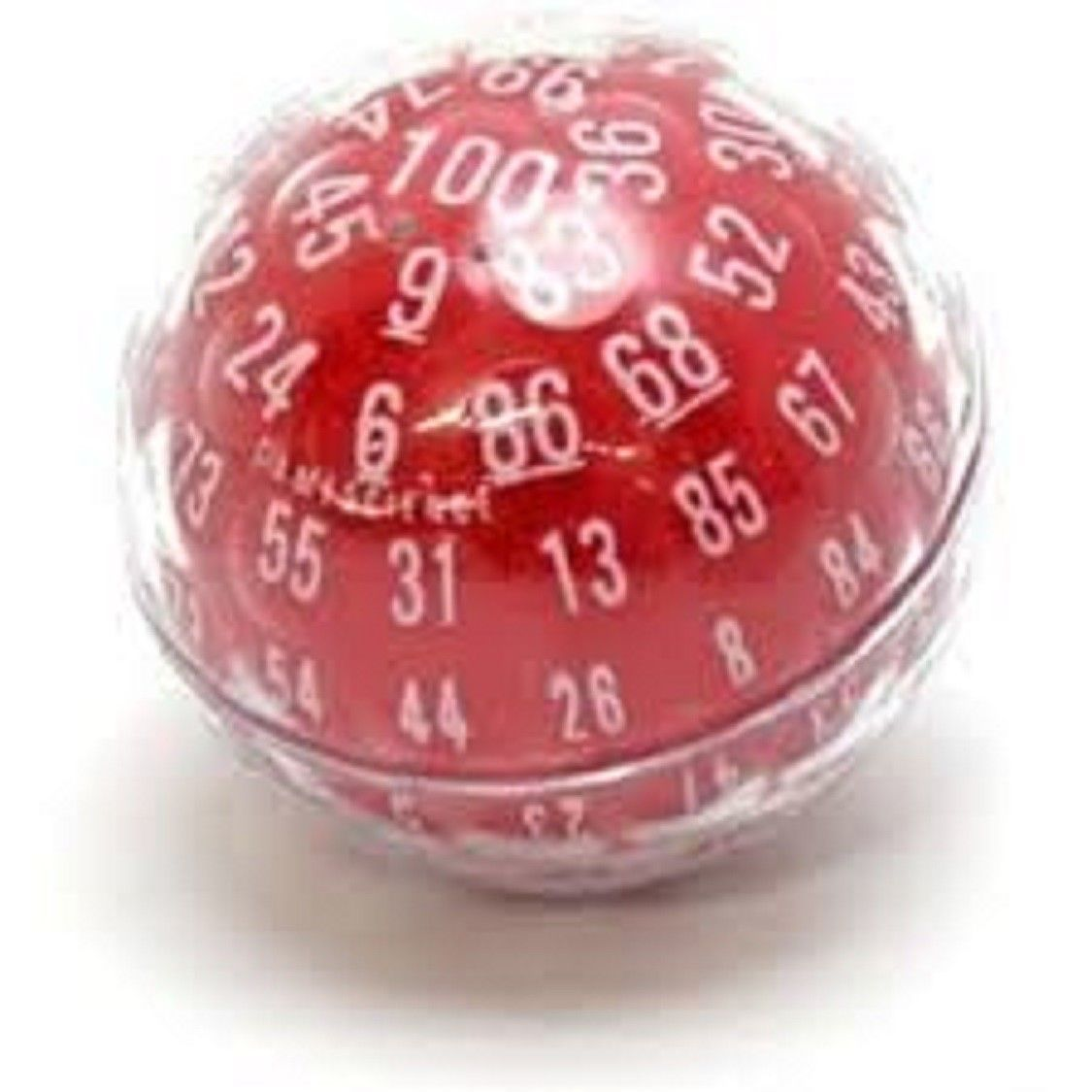 Accessories And Dice 44112 Zocchihedron D100 100 Sided Die Red With White Numbers Gamescience Dice Buy It Now Only 15 99 On Ebay Ebay Red The 100