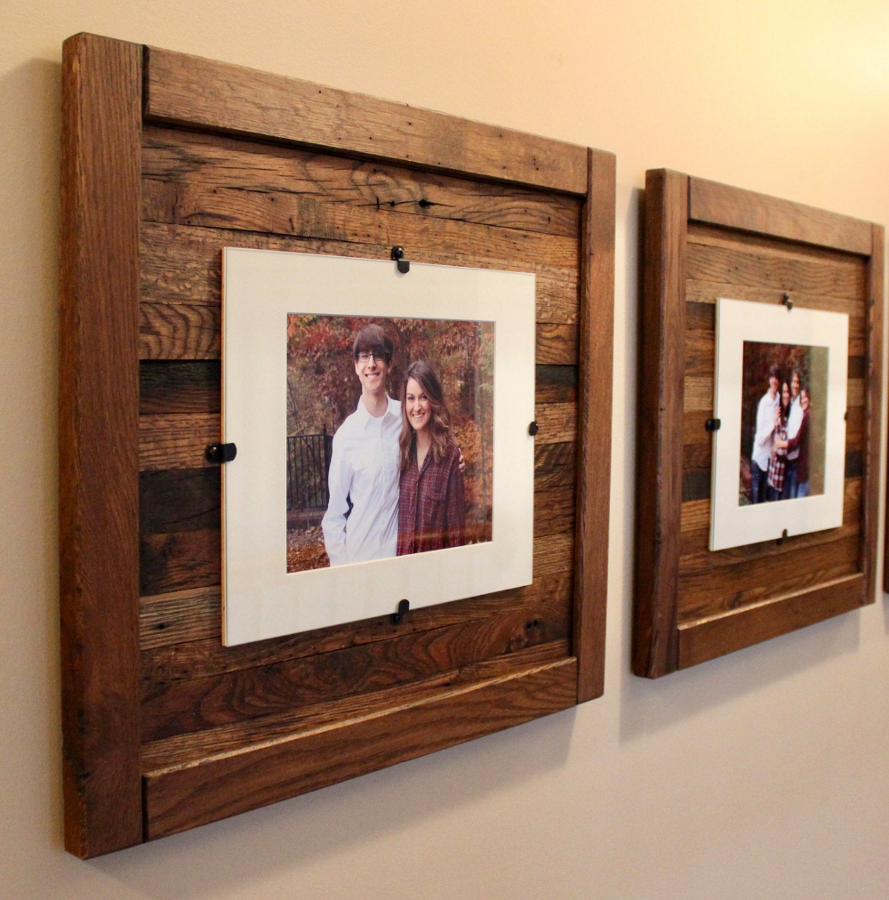 Rustic Wood Picture Frame 8 X 10 With Mat 11 X 14 Picture Etsy Wood Picture Frames Reclaimed Wood Frames Picture On Wood