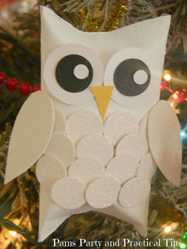 snow owl christmas ornaments childrens ministry pinterest