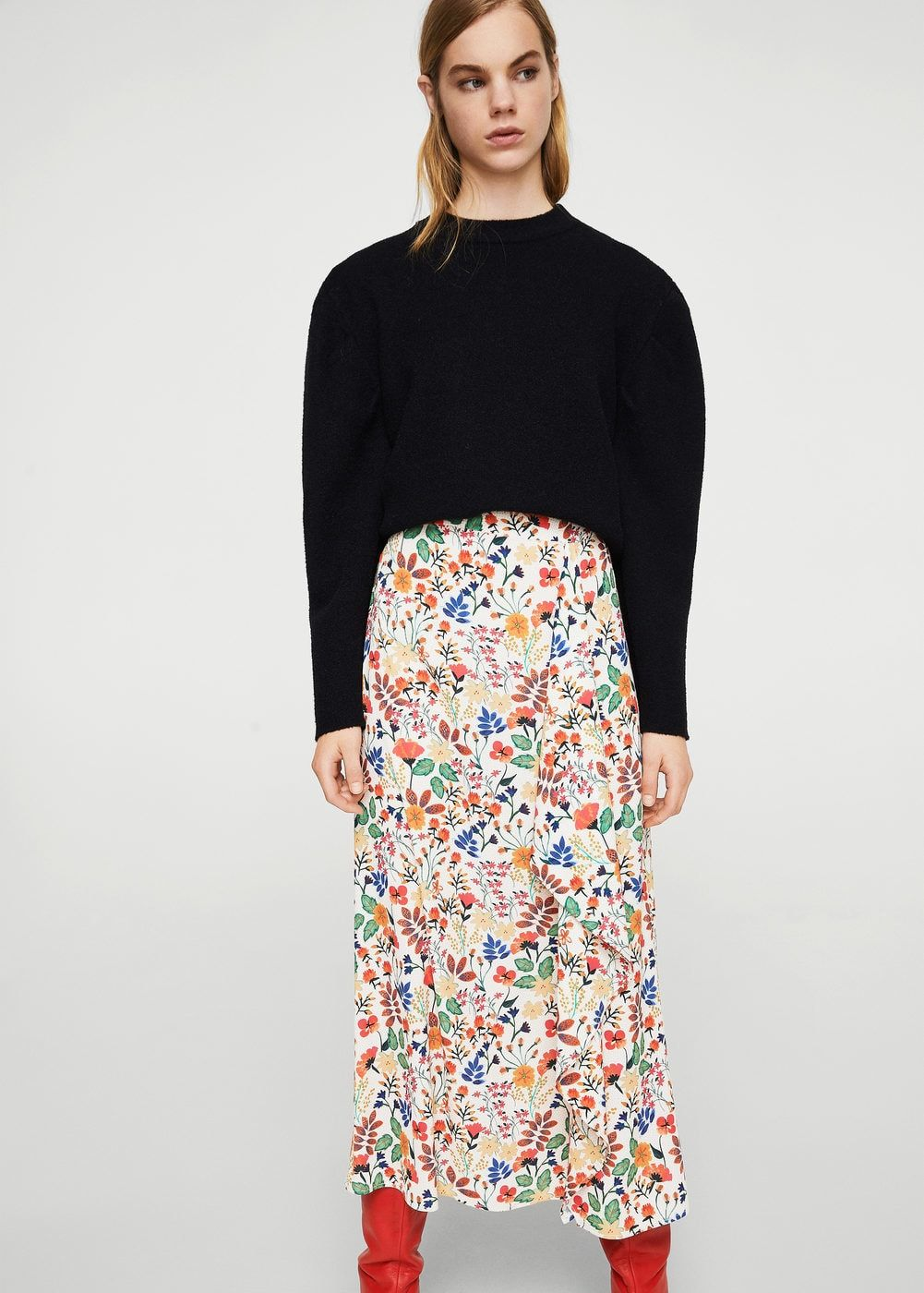 d4dac9ce9d Floral wrapped skirt - Woman in 2019 | MANGO | Skirts, Fashion, Floral