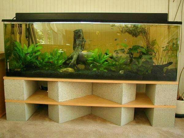 Brick Table Fish Tank Stand Aquarium Stand Diy Aquarium