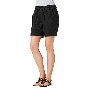 Roll Cuff Linen Shorts - Black