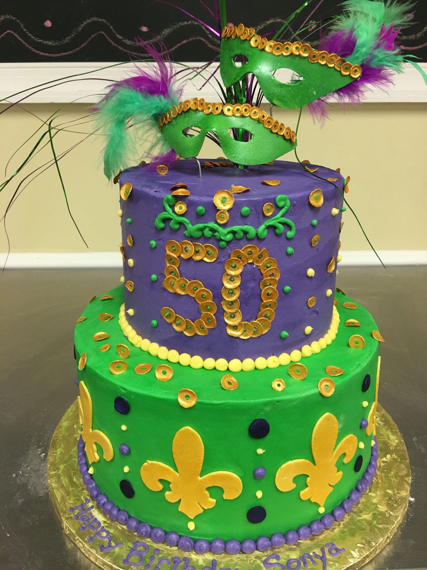 Mardi Gras Birthday Cake By Cakes By Cathy Stewart Cathys Cake