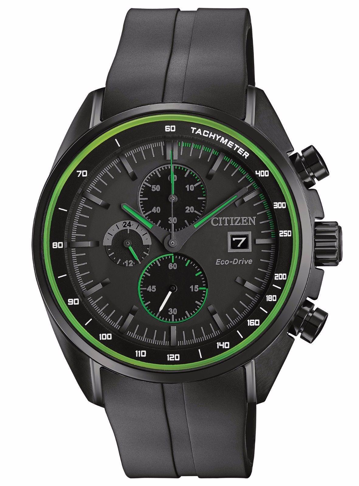 679cd4ac9 Citizen Eco-Drive Men's CA0595-11E Chronograph Green Accents Black Sport  Watch #black #sport #watch #accents #green #drive #mens #chronograph  #citizen